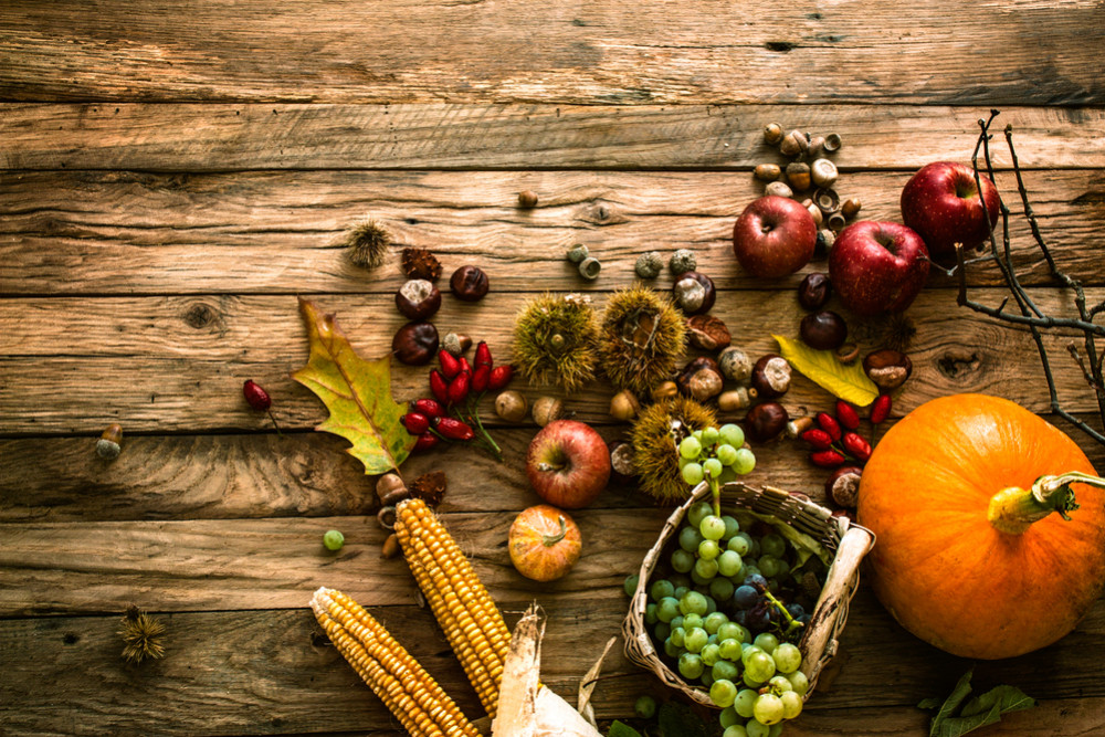 The fruits and vegetables of autumn